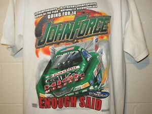 Vintage 2004 NHRA Racing John Force Enough Said T-Shirt L