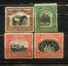 1909 Malaya North Borneo 1c to 4c Mint Stamps MH