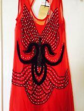 BNWT Kate Moss Topshop Burnt Orange A-line Vest Dress Size 8