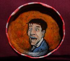 JERRY LEWIS, Jam Jar Lid Portrait,  Comedian, Outsider Folk Art by PETER ORR