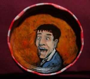 JERRY LEWIS, Jam Jar Lid Portrait,  Comedian, Outsider Folk Art by PETER ORR