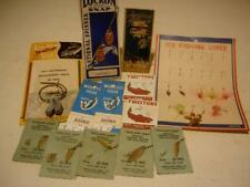 ANTIQUE VINTAGE OLD FLY FISHING LURE LOT  on card ~ WEBER TWISTONS WILLOW LEAF