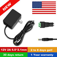 AC to DC 12V 2A Power Supply Adapter for Night Owl Security Camera CS-1201500