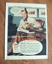 1944 Chesterfield Cigarette Ad Movie Star Bing Crosby 1944 Paul Jones Whiskey Ad