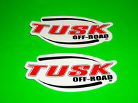 TUSK OFF ROAD MOTOCROSS UTV ATV QUAD MOTORCYCLE TOOLBOX MAN CAVE STICKERS DECALS