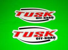 TUSK OFF ROAD MOTOCROSS UTV ATV QUAD MOTORCYCLE TOOLBOX MAN CAVE STICKERS DECALS