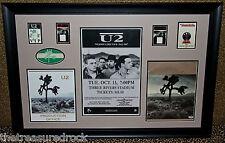 U2 Joshua Tree 1987 autographed signed tour book Vip Pass poster Bono Edge Psa