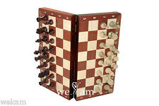free shipping TRAVEL MAGNETIC WOODEN  CHESS SET  WOOD FOLDING  INLAID