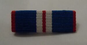 Golden Jubilee Medal Ribbon Bar, Sew on or Pin Attachment option, Jacket