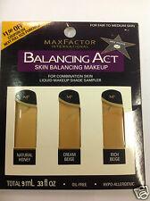 Max Factor Balancing Act Liquid Makeup Shade Sampler FOR FAIR TO MEDIUM SKIN.