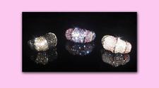Crystal Rings Made With Swarovski Crystals - Crystal Bamboo