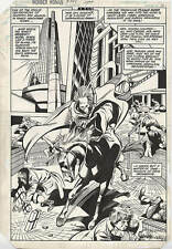 Gene Colan WONDER WOMAN 292 SPLASH PAGE FOUR HORSEMEN Pencils Inks Horse DC Art