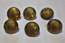 b175baef0e Irish Army Irish Volunteer IV 6 Old Buttons BRASS Large size