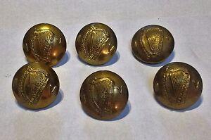Irish  Army Irish Volunteer IV 6 Old Buttons BRASS Large size