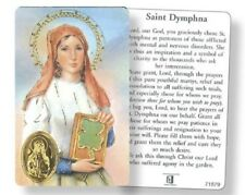 SAINT DYMPHNA LAMINATED PRAYER CARD + FOIL MEDAL. FOR MENTAL + NERVOUS DISORDERS