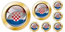 Kfz-Aufkleber Flagge Kroatien Set KA