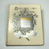 Antique Bingen on the Rhine Gold & Silver Gilded 1884 Rare Book