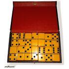 Set Of 28 Butterscotch Bakelite Vintage Dominos