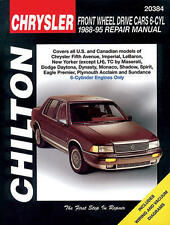 Chilton Repair Manual Chrysler Front Wheel Drive Cars 6-Cyl, 1988-95