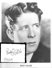 Rudy Vallee Autograph Savoy Havana Band Deep Night Betty Boop Poor Cinderella #1