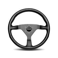 MOMO Steering Wheel Monte Carlo Black Leather 350mm  NEW Black Stitch Classic