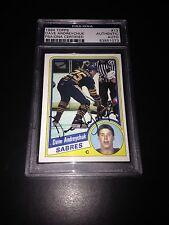 Dave Andreychuk Signed 1984-85 Topps Rookie Card Sabres PSA Slabbed #83851073