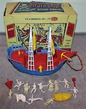 VINTAGE RARE IDEAL PIRATE SHIP W/ORIG BOX CAPTAIN HOOK/PETER PAN/TINKER BELL