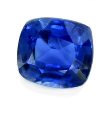 Certified Natural Ceylon Cornflower Blue Sapphire 0.83ct SI Clarity Cushion Gem