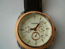New Fossil mens chronograph leather band Analog,Quartz & battery watch.Fs-5040