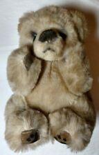 "Russ Berrie Yomiko 8"" Plush Stuffed  Bear Leather Paws"