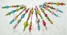 12 ALL Vintage Mercury Glass Bead Icicle Ornaments Christmas Garland