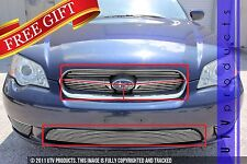 GTG Polished 4PC Overlay Billet Grille Grill Kit fits 2005 - 2007 Subaru Legacy