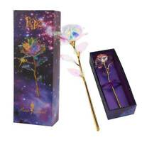 24K Gold Plated Galaxy Rose Present Valentine's Day Gift to Girlfriend Wife Love