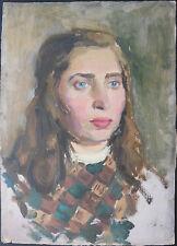 Soviet Impressionist Painting,Young Lady,Armenian Modern Art,Armenia,Armenie,50s