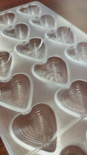 Love Heart DIY Polycarbonate Candy Fondant Mold Chocolate Mould Tray Cake Decor
