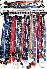 MLB OFFICIAL LANYARD-ID HOLDER,KEYCHAIN KEY RING DETACHABLE CLIP TEAM LICENSED