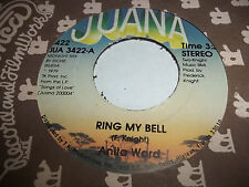 ANITA WARD Ring My Bell / If I Could Feel That Old Feeling Again  45 nm