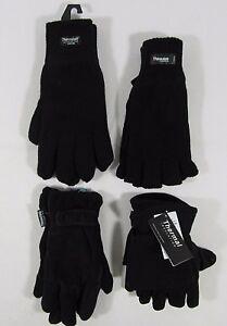 Mens Thermal Gloves Fingerless Full Finger Winter Mitten Magic Stretch Fleece