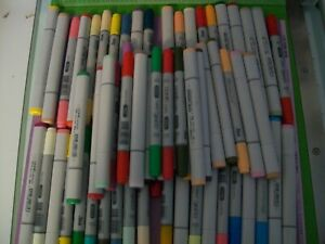 LARGE LOT OF 60 COPIC MARKERS - MIXED SKETCH AND CIAO - NO DUPLICATES