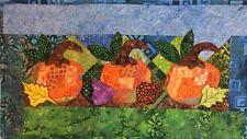 Handcrafted & Finished Mini Quilt -Batik Mini Art Quilt~Batik Pumpkins