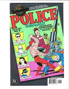 Police Comics #1 Millennium Edition DC 2000 NM 9.4 1st Plastic Man - Firebrand