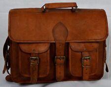 New Men's Genuine Leather Handbag Brown Briefcase Shoulder Bag Messenger Bag
