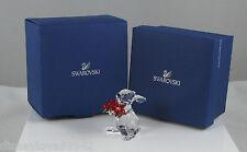 Swarovski Crystal Bunny Rabbit Poinsettia Christmas # 1133620 Ornamental Figure