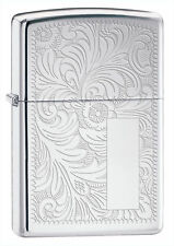 Zippo 352, Venetian Design, Design on Front & Back, High Polish Chrome Lighter