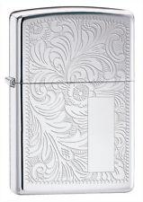 Zippo 352, Venetian Design, Front & Back, HP Chrome Lighter, ***6 Flints/Wick***