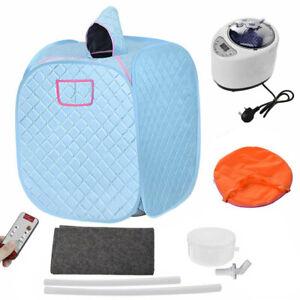 2.2L Electrical Sauna Steam Home Spa Room Portable Tent Full Body + Remote UK