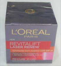 L'OREAL REVITALIFT LASER RENEW Anti-Ageing Care Cream SPF20 50ml BNIB Sealed New