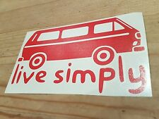 Vw sticker simply volkswagen camper dub beetle bay t4 t5 t2 t3