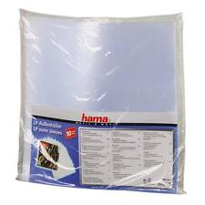 "HAMA 12"" LP VINYL RECORD PLASTIC OUTER SLEEVES HEAVY DUTY PACK 10 51271"