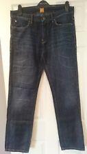 Mens Hugo Boss Dark Denim Jeans, Size W35 L34